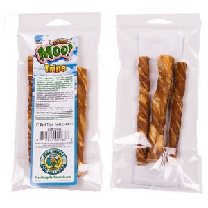 Free Range Beef Tripe Twists Dog Treats - 3 Pack
