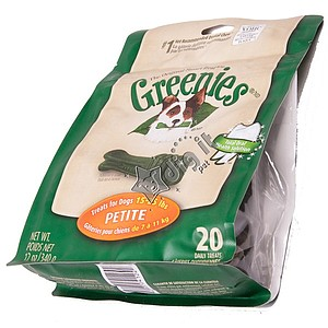Greenies Petite Dog Chews 12oz Treat Pack, 20 bones