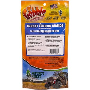 Gobble Turkey Tendon Braids, 3.5 oz. Bag