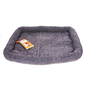 19in x 14in X-Small Gray GoGo Fleece Crate Pad