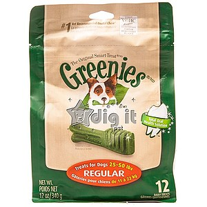 Greenies Regular 12 oz Treat Pack, 12 bones