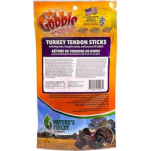 Turkey Tendon Sticks w/Pumpkin Seeds and Turkey Liver 3.5 oz.